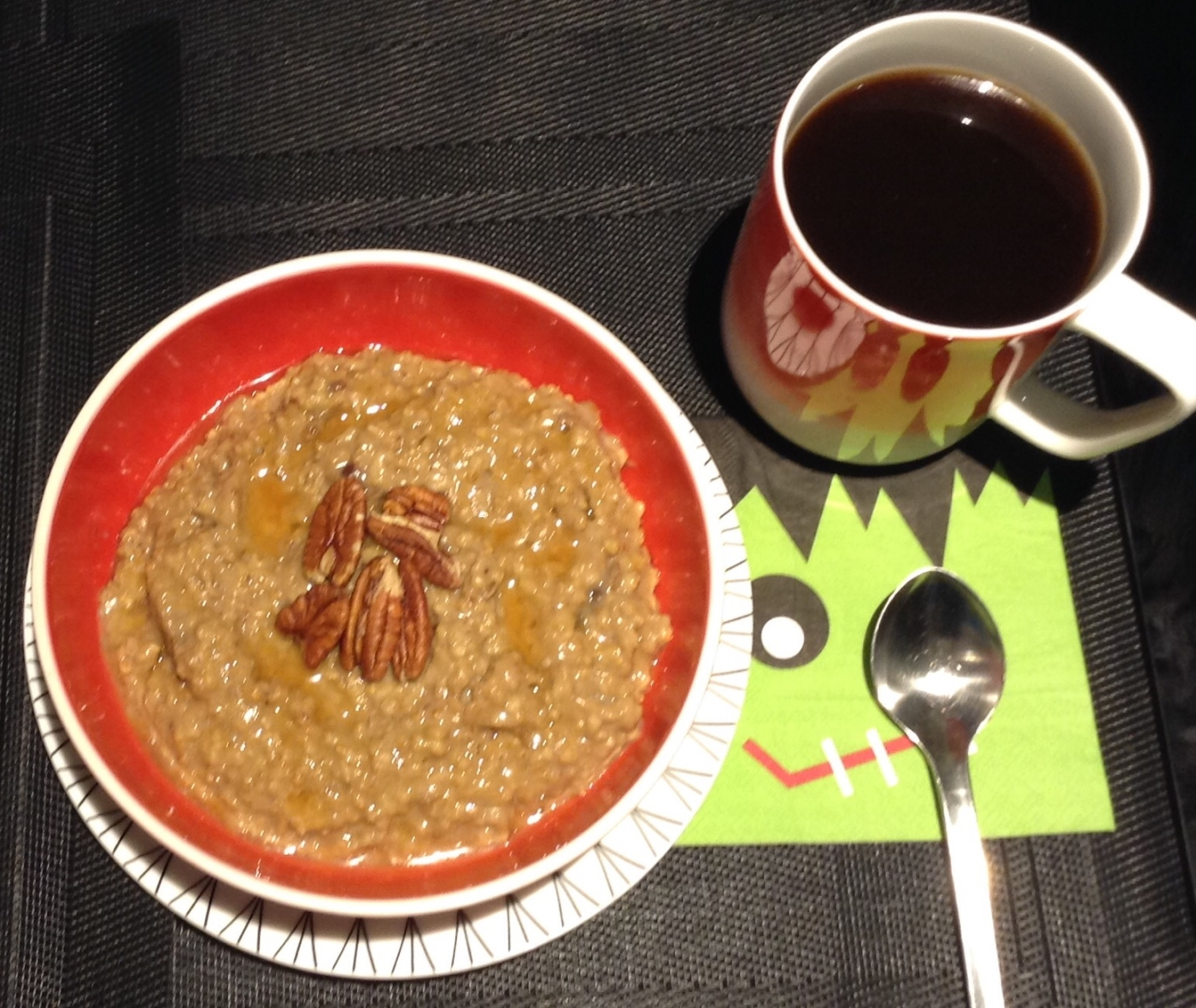 coffee-cardamon-date-and-brown-butter-oat-breakfast-pudding