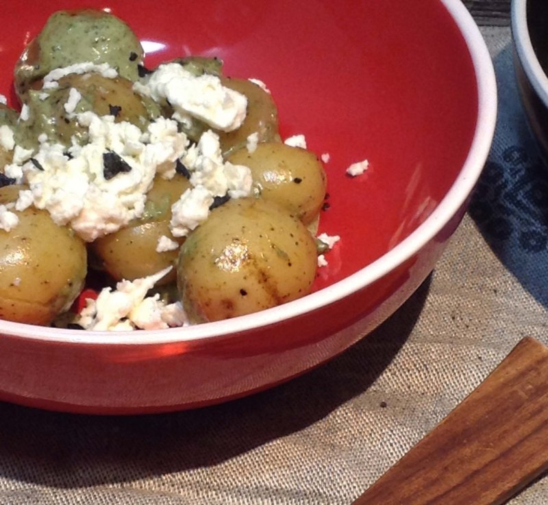 new-potatoes-with-warm-feta-sauce
