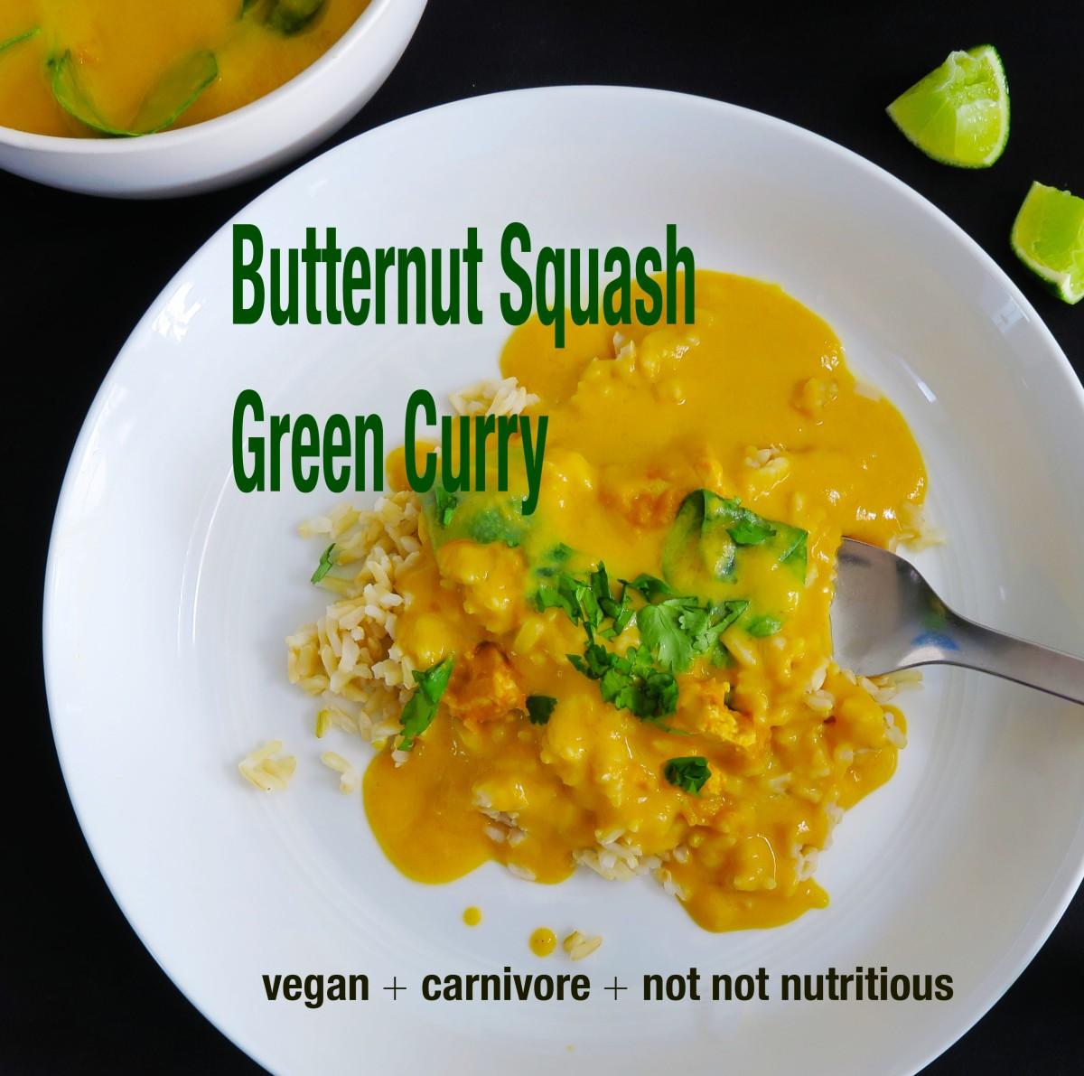 Butternut Squash Green Curry {Menu 2: Thai One On}