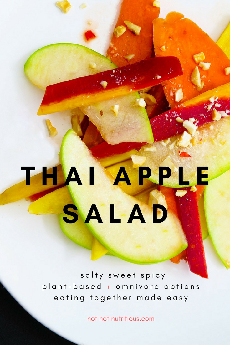 Thai apple salad.