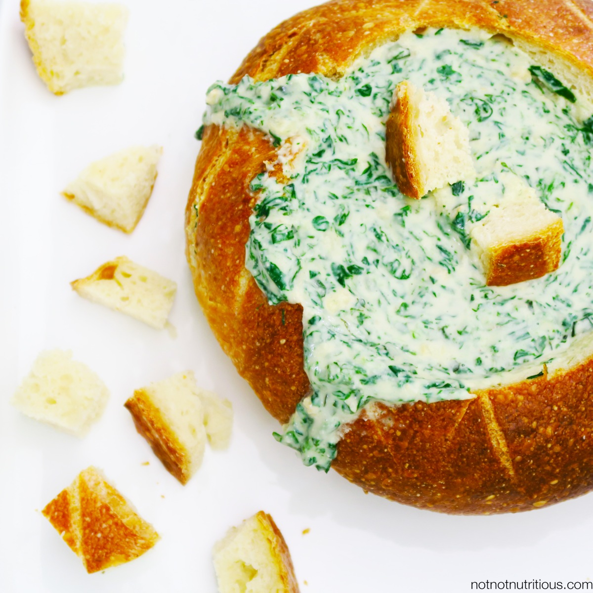 Lazy or Efficient? Either way, you'll love this Spinach Dip [Plant-based party food]