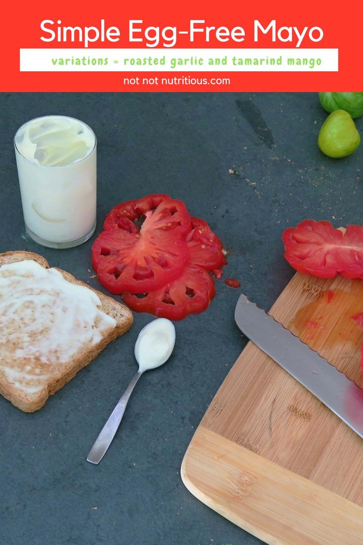 Simple egg-free mayo, made with aquafaba